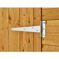 4 x 4 Security Tongue and Groove Apex Shed - Double Doors - 2 Windows - 12mm Tongue and Groove Floor and Roof