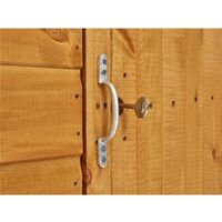 20 X 4 Security Tongue And Groove Pent Shed - Single Door - 10 Windows - 12mm Tongue And Groove Floor And Roof