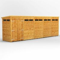 20 X 6 Security Tongue And Groove Pent Shed - Double Doors - 10 Windows - 12mm Tongue And Groove Floor And Roof
