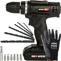 MYLEK Cordless Drill with 13 Piece Accessory Kit