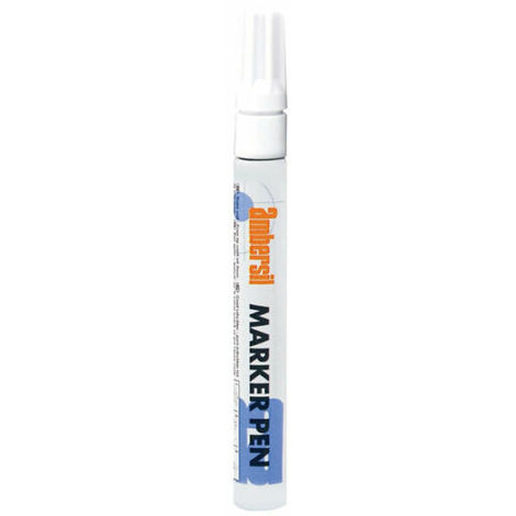 Ambersil White Acrylic Paint Marker Pen 3mm Fibre Nib 20394