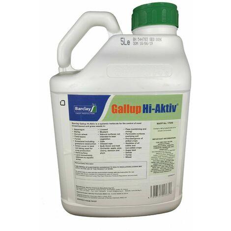 5 Litre GALLUP HI-ACTIV Strongest Ind Strength Glyphosate 490g/L Weed Killer