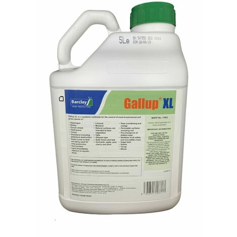 5 Litre GALLUP XL Professional Industrial Strength Glyphosate 360g/L Weed Killer