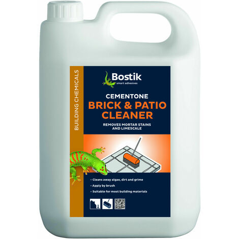 Bostik Brick & Patio Cleaner Removes Mortar Cement Stains Driveways 2.5l