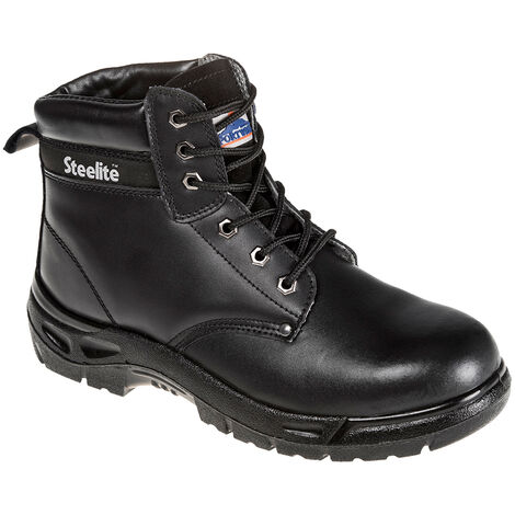 PORTWEST SIZE 6 / 39 FW03 Black Steelite Boot S3 Steel toe safety boot rigger