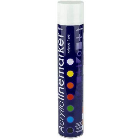 Prosolve White Acrylic Line Marking Construction Spray Paint 750ml