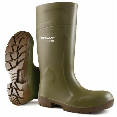 Dunlop - PUROFORT MULTIGRIP Safety Wellington Boot sz 9 - Green
