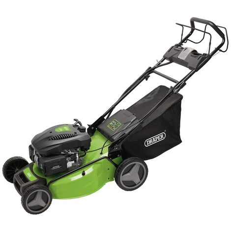 DRAPER 08674 - 530mm Self-Propelled Petrol Mulching Lawn Mower with Electric Start (173cc/4.4HP)