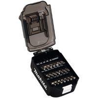 Makita B-68323 21 Piece Screwdriver Drill Bit Set Battery Shaped Case Bit Holder