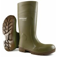 Dunlop - PUROFORT MULTIGRIP Safety Wellington Boot sz 13 - Green