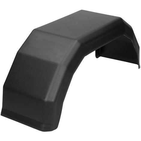 """8"""" Garde-boue remorque 150 x 505 mm en plastique noir pneu roue voiture camion"""
