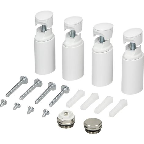 Support de montage pour radiateur salle de bain support mur kit de montage blanc