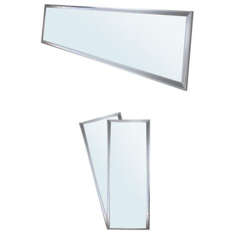 Panneau de DPE LED 42W Allemagne - 120 x 30 cm - 2-pack - Ultraslim mince - SMD 3014 - 6000K cool White - 220-240 V - environ 3010 lumens - Plafonnier encastré