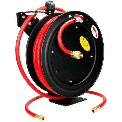 Dévidoir automatique enrouleur 15 m tuyau à air comprimé arrosage jardin 300 PSI