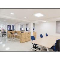 ECD Germany LED luminaire 18W - spots de plafond du panneau ULTRASLIM - 220-240 - SMD 2835-22 x 22 cm - blanc froid 6500K - spot éclairage encastré carré pour couloir, salle de bains ou de cuisine