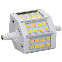 R7S lampe halogène SMD lampes Projecteur à LED 5W dimmable blanc chaud 78 mm 180 °