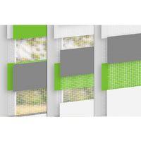 Pince store à enrouleur de fenêtre Duo Double Klemmfix rouleau duo 45 x 150 cm
