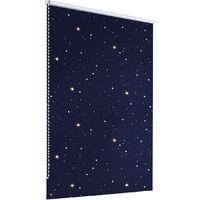 ECD Germany store occultant 80 x 150 cm bleu avec des étoiles Klemmfix sans perçage