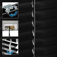 ECD Germany Aluminium Stores 80 x 130 cm - ailettes en aluminium - - noir protection visuelle, la lumière et l'éblouissement - pour fenêtres et portes - y compris tous les accessoires de montage -. Store de fenêtre en aluminium Store vénitien Rollo