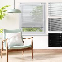 ECD Germany Aluminium Stores 80 x 175 cm - blanc - ailettes en aluminium - protection visuelle, la lumière et les reflets - pour les fenêtres et portes -. Tous y compris le matériel de montage - store en aluminium store vénitien Rollo