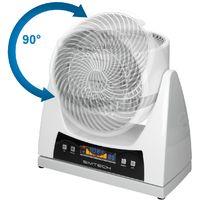 Ventilateur bureau sol 25,5 cm brasseur d'air 3 vitesses 40W telecommande blanc