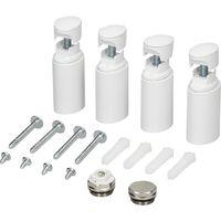 Radiateur salle de bain 500x1800 mm blanc recordement central sèche-serviettes