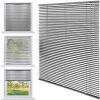 ECD Germany Aluminium Stores 80 x 130 cm - argent - ailettes en aluminium - protection visuelle, la lumière et les reflets - pour les fenêtres et portes -. Tous y compris le matériel de montage - store en aluminium store vénitien Rollo