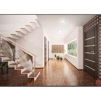 ECD Germany 2 pack LED Downlight 18W - spots de plafond de panneau ULTRASLIM - 220-240 - SMD 2835 - Ø22 cm - blanc neutre 4000K - taches rondes éclairage encastré pour couloir, salle de bains ou la cuisine
