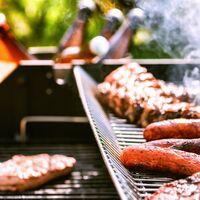 Barbecue charbon + grille + thermomètre + couvercle LANDMANN GRILLCHEF 11517