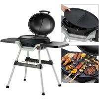 Barbecue électrique sur pied grill de table 2en1 400W + thermomètre ML-Design®
