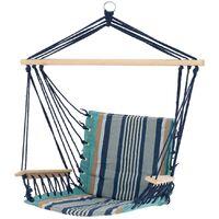 Chaise suspendue siège fauteuil suspendu hamac relaxation multicolore 120 kg