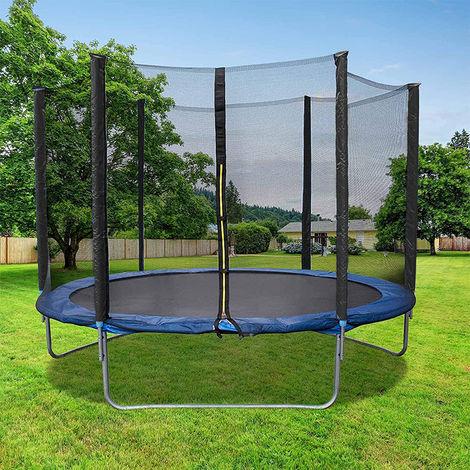 Trampolin Gartentrampolin O183cm Komplettset Kindertrampolin Outdoor Trampolin Mit Sicherheitsnetz Blau