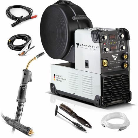 STAHLWERK MIG 270 ST IGBT máquina de soldar MIG MAG con gas de protección y con 270 Amperio, función MMA, adecuada para FLUX, 7 años de garantía*