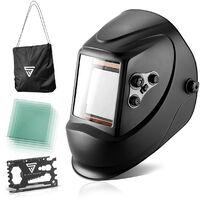 Casco de soldador STAHLWERK ST-900X careta de soldadura totalmente automática, incluye 5 lentes de sustitución, 7 años de garantía en el filtro