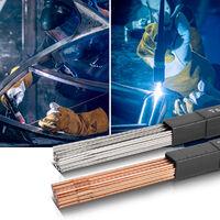 Varillas para soldar STAHLWERK TIG acero / acero inoxidable / Ø 1,6 mm x 500 mm / cada paquete 1 kg, Caja de almacenamiento incluida