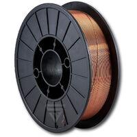 Hilo de soldadura STAHLWERK MIG/MAG Ø 0,8 mm, acero SG3 ER70S-6, bobina de 5kg S200/D200 con mandril de 50mm, uso universal