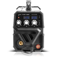STAHLWERK MIG 175 ST IGBT - equipo completo - máquina de soldar MIG MAG con gas de protección 175 A, para FLUX, MMA soldadura de electrodos, blanca, 7 años de garantía