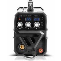 STAHLWERK MIG 155 ST IGBT - equipo completo - máquina de soldar MIG MAG con 155 A, adecuada para FLUX, con MMA soldadura de electrodos, blanca, 7 años de garantía