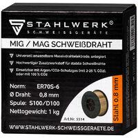 Hilo de soldadura MIG MAG ER70S-6 SG3 Ø 0,8 mm S100/D100 carrete 1 kg
