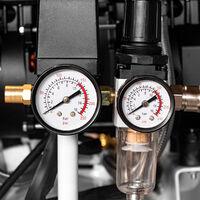 Compresor STAHLWERK Compresor de aire comprimido Compresor ST 310 Pro - Tanque 30 L, 10 bar, sin aceite, 210 L/min, muy silencioso, muy compacto, blanco