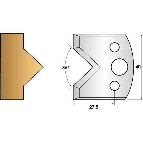 Paire de fers de toupie hauteur 40 n° 34 - enture mâle | Fers (coupants)