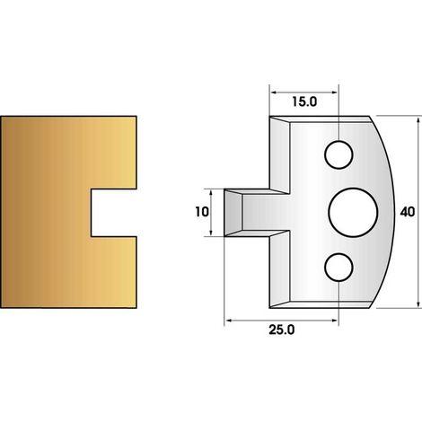 Paire de fers de toupie hauteur 40 n° 91 - rainure 10mm   Fers (coupants)