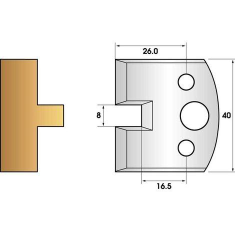 Paire de fers de toupie hauteur 40 n° 95 - languette 8mm | Fers (coupants)