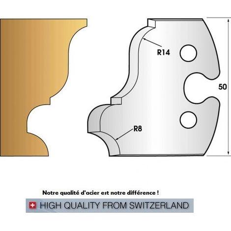 Paire de fers de toupie hauteur 50 mm n° 235 - grande doucine | Fers (coupants)