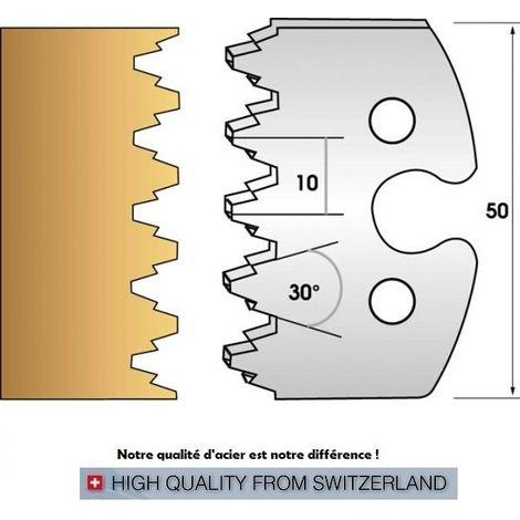 Paire de fers de toupie hauteur 50 mm n° 237 - enture assemblage | Fers (coupants)