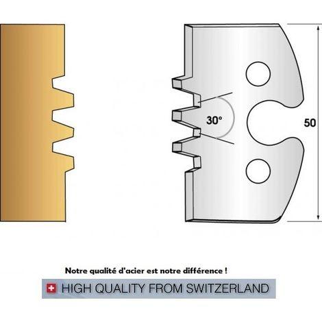 Paire de fers de toupie hauteur 50 mm n° 246 - enture assemblage trapèze | Fers (coupants)