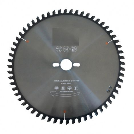 Lame de scie circulaire carbure 250 mm - denture gouge