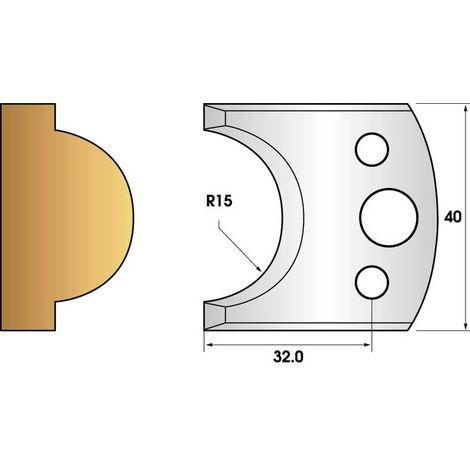 Paire de fers de toupie hauteur 40 n° 66 - mouton rayon 15mm | Fers (coupants)