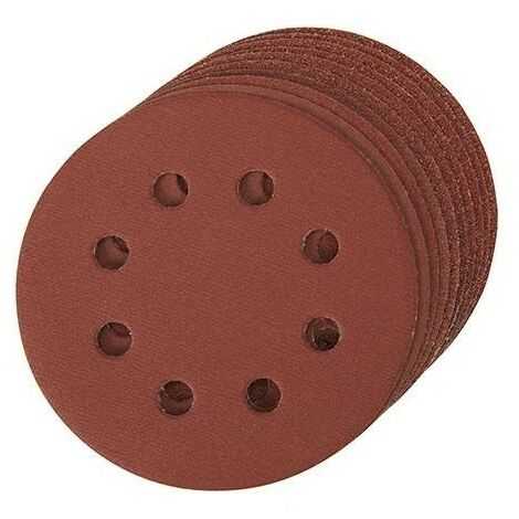 Disque abrasif velcro 8 trous 125 mm - Grain 40, le lot de 10, qualité pro Klingspor !