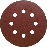 Disque abrasif velcro 8 trous 150 mm Grain 120 - Qualité Pro (50 pièces) !